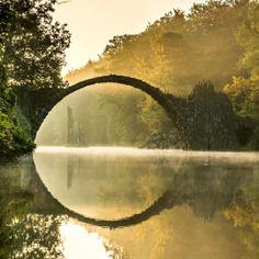 Rakotzbrücke (Devil's Bridge), Kromlauer Park, Germany - 1860