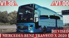 Bus Mercedes-Benz Travego X 2020 v1.0 (1.36.x) Mercedes Logo, Mercedes Truck, Luxury Bus, Mercedez Benz, New Mods, Game, Engineering, Trucks, Buses