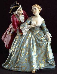 History fashion porcelain Figurine