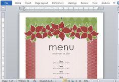 microsoft word templates menu