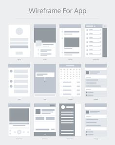 Wireframe for apps Design Thinking Process, Design Process, Web Design, Your Design, Ui Prototyping, App Wireframe, Web Layout, User Interface Design, Ui Kit