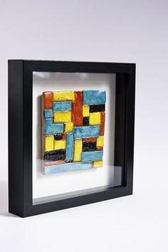 SALE 50 minimalist wall art geometric wall decor wall by karoArt, Shadow Frame, Stock Clearance, Black Shadow, Geometric Wall, Sale 50, Frame Sizes, Tile Art, Ceramic Art, Art Pieces