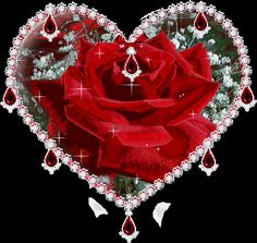 Rose GIF Animation Sparkle Heart Red Rose@   Sparkle Red Rose - 368x348 - gif