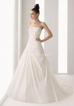 Strapless A-line taffeta bridal gown 99e1d38d9d9b