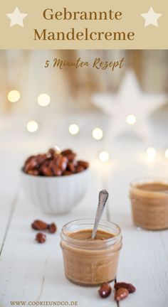 5 minute recipe for a delicious burnt almond cream. A sweet spread that can also be used as a filling for pastries and cookies. The ideal last minute gift for Christmas. Quick, easy and even vegan, mi Vegan Christmas, Christmas Baking, Kenwood Cooking, 5 Minute Meals, Almond Cream, Vegan Nutrition, Lactose Free, Gluten Free, Vegan Sweets