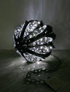 James Clar -- Ball & Chain   great sculpture made of car headlights