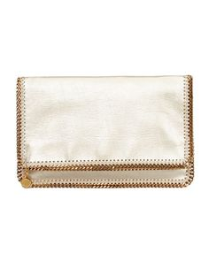 Falabella Fold-Over Clutch Bag, Gold by Stella McCartney at Neiman Marcus.