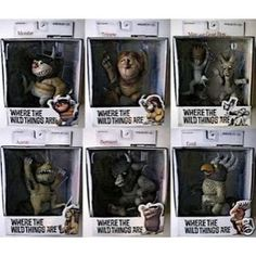 Where the Wild Things Are Todd Mcfarlane toys- found mine off ebay- there are 6 boxes and they rock!
