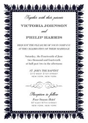 Mannerist Ball - Wedding invitation cards