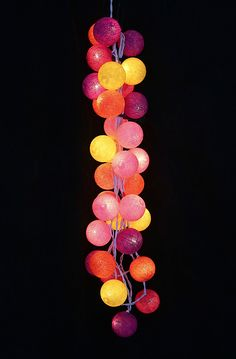 Circus Circus Fairy Lights or LED (Buttercup, Party Pink, Fuschia, Violet & Bright Orange Balls)
