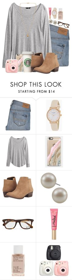 """""""Lovely """" by madelyn-abigail ❤ liked on Polyvore featuring Abercrombie & Fitch, Kate Spade, H&M, Casetify, Jessica Simpson, Carolee, Ray-Ban, Korres, Michael Kors and women's clothing"""