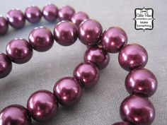 Purple Pearl Beads  1 Strand of Pearls  10mm  by cathiefilian,