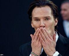 Hands and cheekbones...
