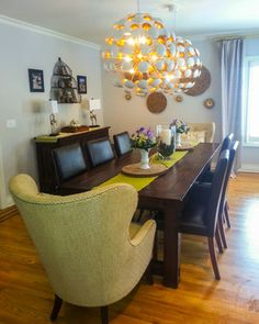 Modern rustic house dining room  | Rustic Chic Dining Room - contemporary - dining room - newark - by B ...