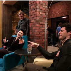 Harry and Matt (and Dom) on set for season two!