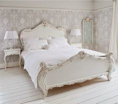 Provencal Sassy White French Bed from The French Bedroom Company. Shop more products from The French Bedroom Company on Wanelo. Muebles Shabby Chic, French Country Bedrooms, French Bedroom Decor, Bedroom Ideas, French Inspired Bedroom, Bedroom Designs, Moroccan Bedroom, Modern Bedroom, Trendy Bedroom