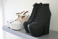 love these black booties from Mr. Campbell - front is a little narrow so not as easy to walk in as the big litas are :)