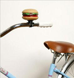 Hamburger Bell for your bike.  Why not?