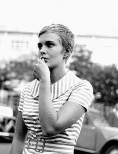 """Jean Seberg in """"A Bout de Souffle"""", """"Breathless"""" in America,1960, still hip today."""