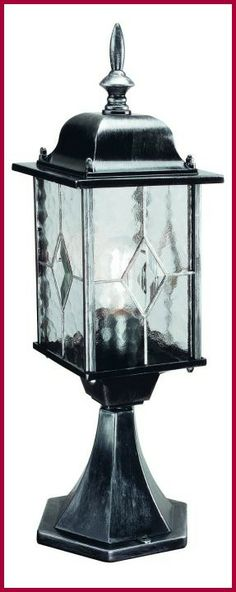 Elstead Wexford Black/Silver Pedestal Lantern, £75.60. For more information please visit: http://www.outdoor-lighting-centre.co.uk/elstead-wexford-blacksilver-pedestal-lantern-p-565.html