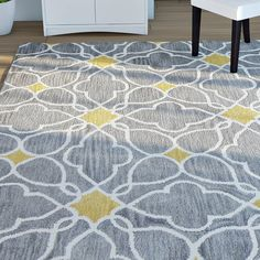 Looking for Frances Hand-Tufted Wool Grey Area Rug Latitude Run ? Check out our picks for the Frances Hand-Tufted Wool Grey Area Rug Latitude Run from the popular stores - all in one. Yellow Area Rugs, White Area Rug, Beige Area Rugs, House Color Schemes, House Colors, White Console Table, Grey Rugs, New Homes, Yellow