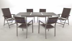 muebles de terraza en aluminio