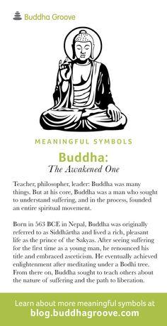 Meaningful Symbols – A Guide to Sacred Imagery: Buddha The Awakened One Feng Shui Symbols, Yoga Symbols, Spiritual Symbols, Spiritual Growth, Buddhist Wisdom, Buddhist Quotes, Buddha Buddhism, Buddha Symbols, Sacred Geometry Symbols