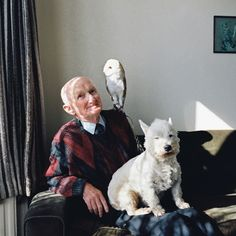 We love this portrait of a man with owl (and Lucy). This is one of the photos from the Taylor Wessing Photographic Portrait Prize 2013.