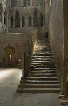 Beautiful Places...'The Night Stair' by David Nicholls, Hexham Abbey, Hexham, UK.