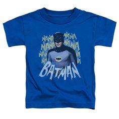 Batman Classic Tv/Theme Song Short Sleeve Toddler Tee in Royal, Toddler Boy's