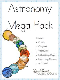 Free Astronomy Mega Pack is part of Homeschool astronomy - Your kids will have a great time learning with this Free Astronomy Mega Pack! Science Curriculum, Teaching Science, Homeschool Curriculum, Science For Kids, Earth Science, Science Lesson Plans, Science Classroom, Life Science, Space Activities