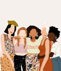Sisterhood, we are better together! Glad to be apart of a community of women supporting women. Tag a few incredible women that inspire you! Art And Illustration, Illustrations, Inspiration Art, Art Inspo, Feminist Art, Grafik Design, Aesthetic Art, Art Drawings, Web Design