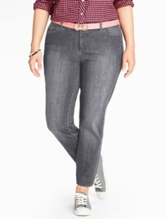 The Flawless Five-Pocket Ankle Jean - Oyster - Talbots