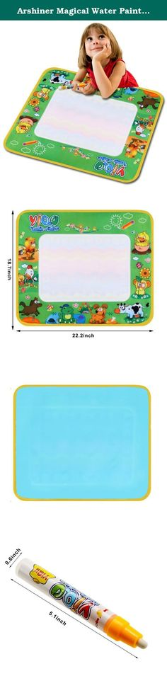 Arshiner Magical Water Painting Drawing Writing Board, Color Version Of Animal, Water Writing Canvas(US STOCK). 100% Brand New Material: Plastic Color: Multicolor Size: 78 x 58cm Age Range: 3 years The perfect art travel toy for trips: just fill the pen with water, and create on the magic mat! Kids are fascinated as colorful images spring up, then slowly fade away. Encourages creativity, Builds fine motor coordination, help kids master writing the alphabet and numbers. The step by step...