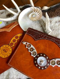 Designed by Wilson #Steampunk #leather #journal - #steel #leather #brass #book covers