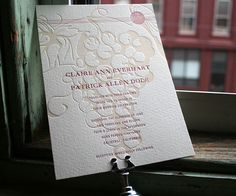 Vineyard letterpress wine themed invitation by Bella Figura. Customize yours with Paper Passionista. Customize yours with Paper Passionista.