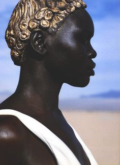 somethingvain:  john galliano s/s 1994, alek wek in idoles by herb ritts for vogue paris april 1999