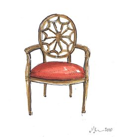 French Spider Web Chair, Michelle Morelan