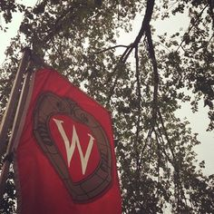You know it's summer when these flags are flying on Bascom Hill!