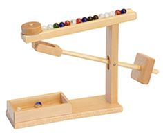 MARBLE MACHINE Handmade Wood Mechanical Office Toy Game Amish Handcrafted Hardwood USA
