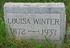 WINTER, LOUISA - Hutchinson County, South Dakota | LOUISA WINTER - South Dakota Gravestone Photos