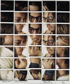 Johnny Depp photo Polaroid mosaic