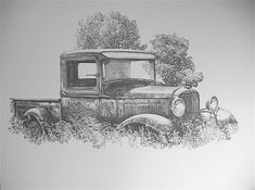 32 Ford pickup pencil drawing print by C.P. Williams by mongo54 I have a number of these prints available.....