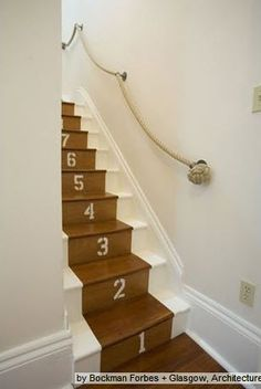 Rope Handrail - Perfect for stairs leading up to a kid's bonus room or loft space