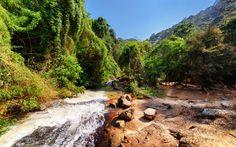Lataa kuva Vuori joen, kesällä, vuoret, metsä, Vietnam