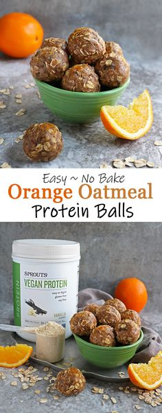 Tangy and tasty, these little Orange Oatmeal Protein Balls are packed full of protein and slow-releasing carbs. They are so easy to make and are a tasty afternoon pick-me-up or midday energy boost! Oatmeal Bites, Protein Oatmeal, Make Ahead Appetizers, Appetizer Recipes, Snack Recipes, Dessert Recipes, Desserts, Lunch Snacks, Easy Snacks