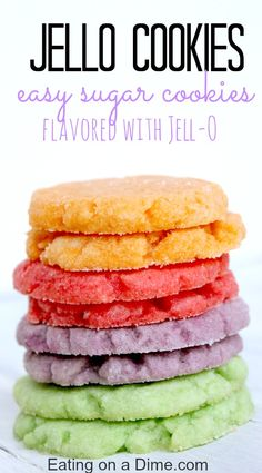 You have to try this delicious Jello Cookies recipe. I took a basic sugar cookie recipe and jazzed it up with jello. they come out in beautiful bright colors, but they also are delicious flavored like jello. The kids love it.