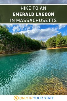 This Massachusetts hiking trail is ranked easy to moderate and offers beautiful scenery including unique rock formations and a magical emerald lagoon! A great family or beginner hike, it's fun for the whole family. Rock Formations, Haunted Places, Weekend Trips, Beautiful Scenery, Hiking Trails, Massachusetts, Vacations, North America, Travel Destinations