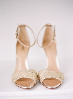 Gold braided sandals: http://www.stylemepretty.com/collection/2589/