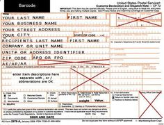Military Care Package Ideas Correct way to fill out Customs Form when mailing military care packages